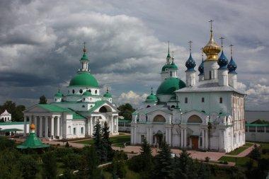 Russia, Rostov Veliky. Monastery of Saviour Yakovlevsky Dimitriev. Panorama.