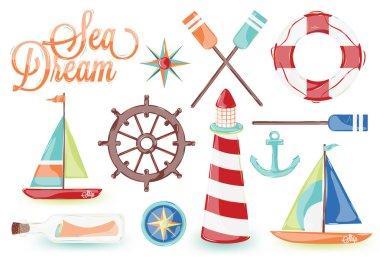 Icons on the marine theme