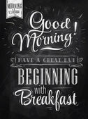 Fotografie Poster lettering Good morning!
