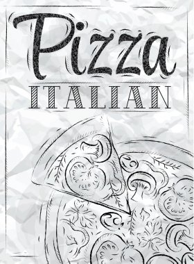 Poster with pizza