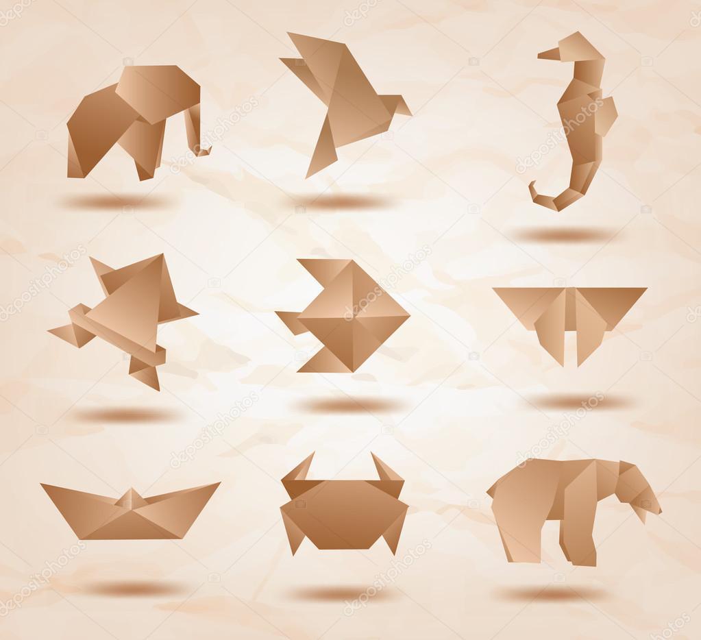 Kağıttan kelebek yapımları Origami Modelleri