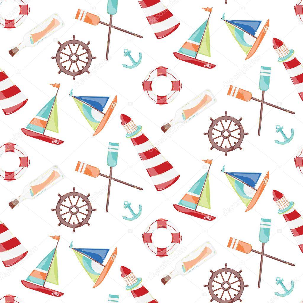 Pattern on the marine theme
