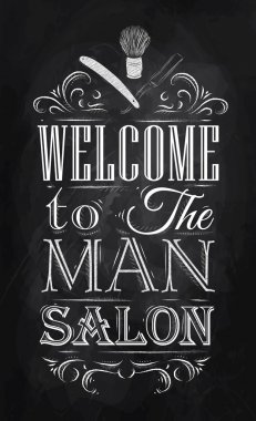 Poster Barbershop welcome to the man salon