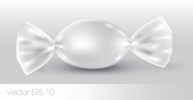 White oval candy package for new design