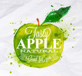 Fotografie Poster fruit apple green
