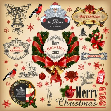 Christmas collection of calligraphic and typographic elements