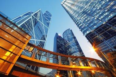 Modern office buildings in Hong Kong. stock vector