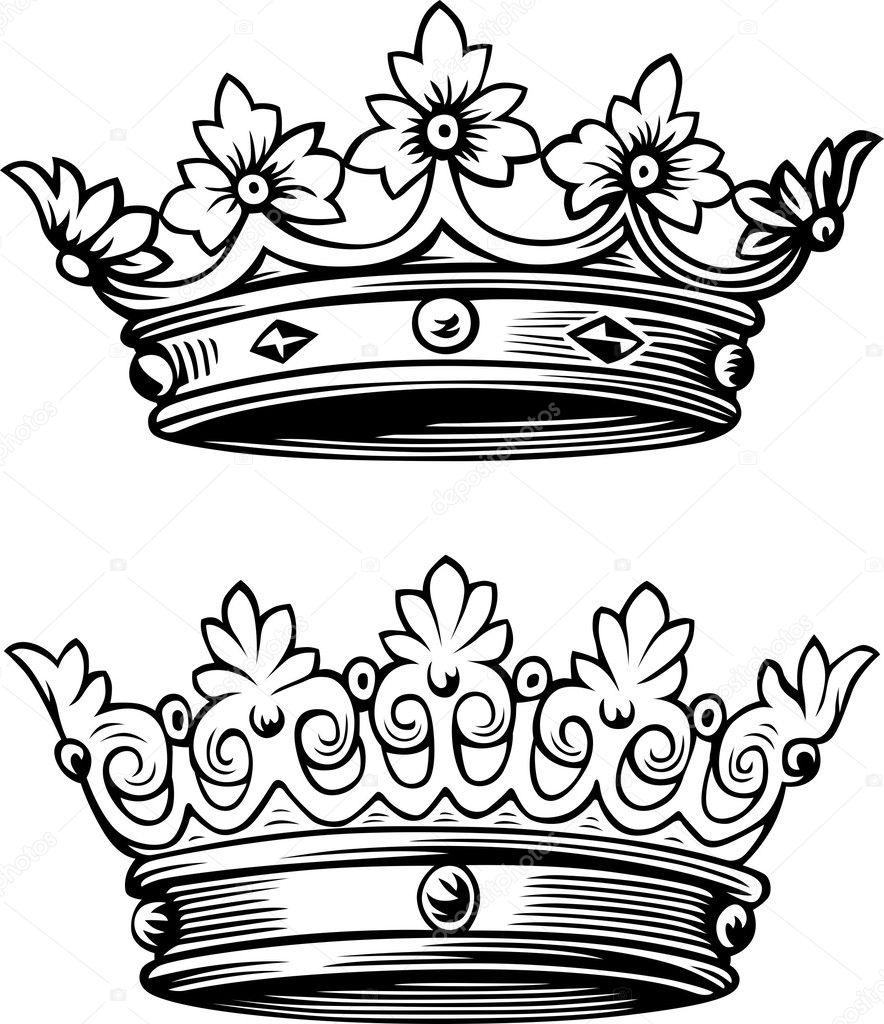 Crowns Stock Vector Den Barbulat 12402916
