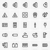 elektřina ikony