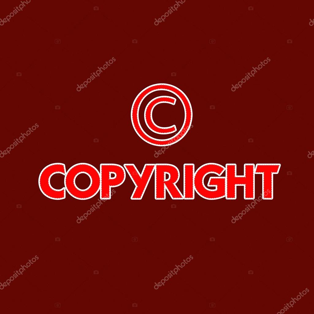 Copyright Registered And Trademark Symbols Isolated Over White W