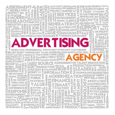 Business word cloud for business and finance concept, advertising agency