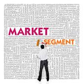 obchodní slovo mrak pro podnikání a financí koncepce, tržní segment