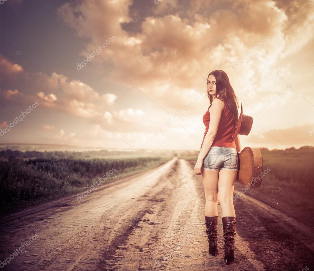 Sunset road walk