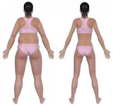 Weight Loss Before And After Rear View