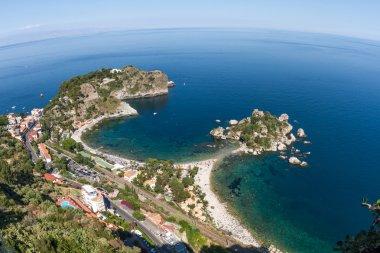 Isola bella, a small island near Taormina, Sicily