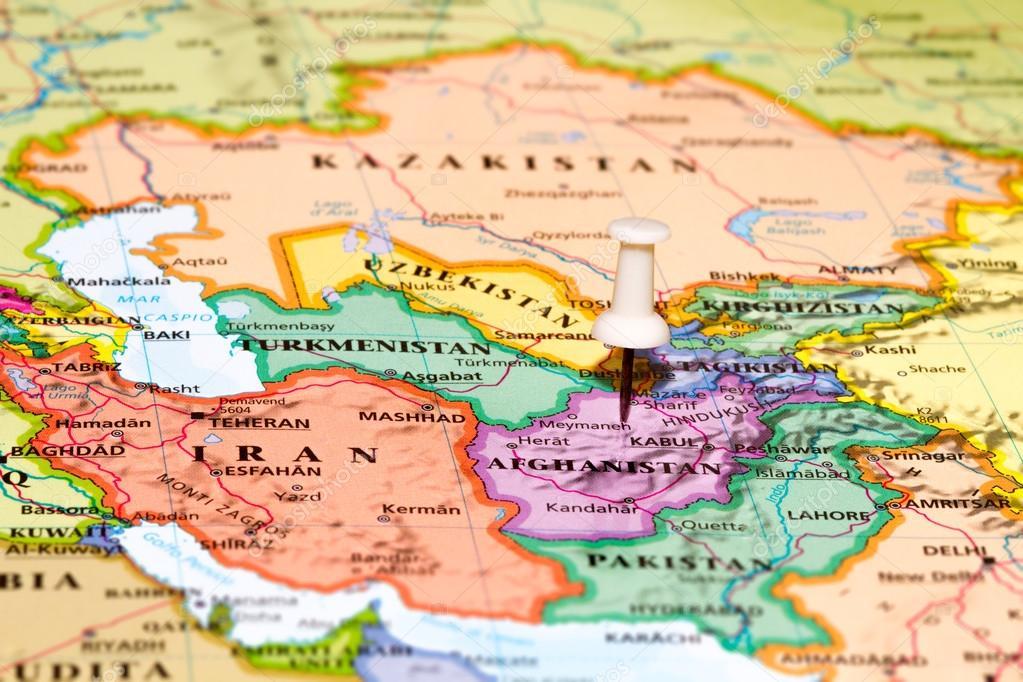 karta afghanistan karta över afghanistan med en vit kartnål fastnat — Stockfotografi  karta afghanistan