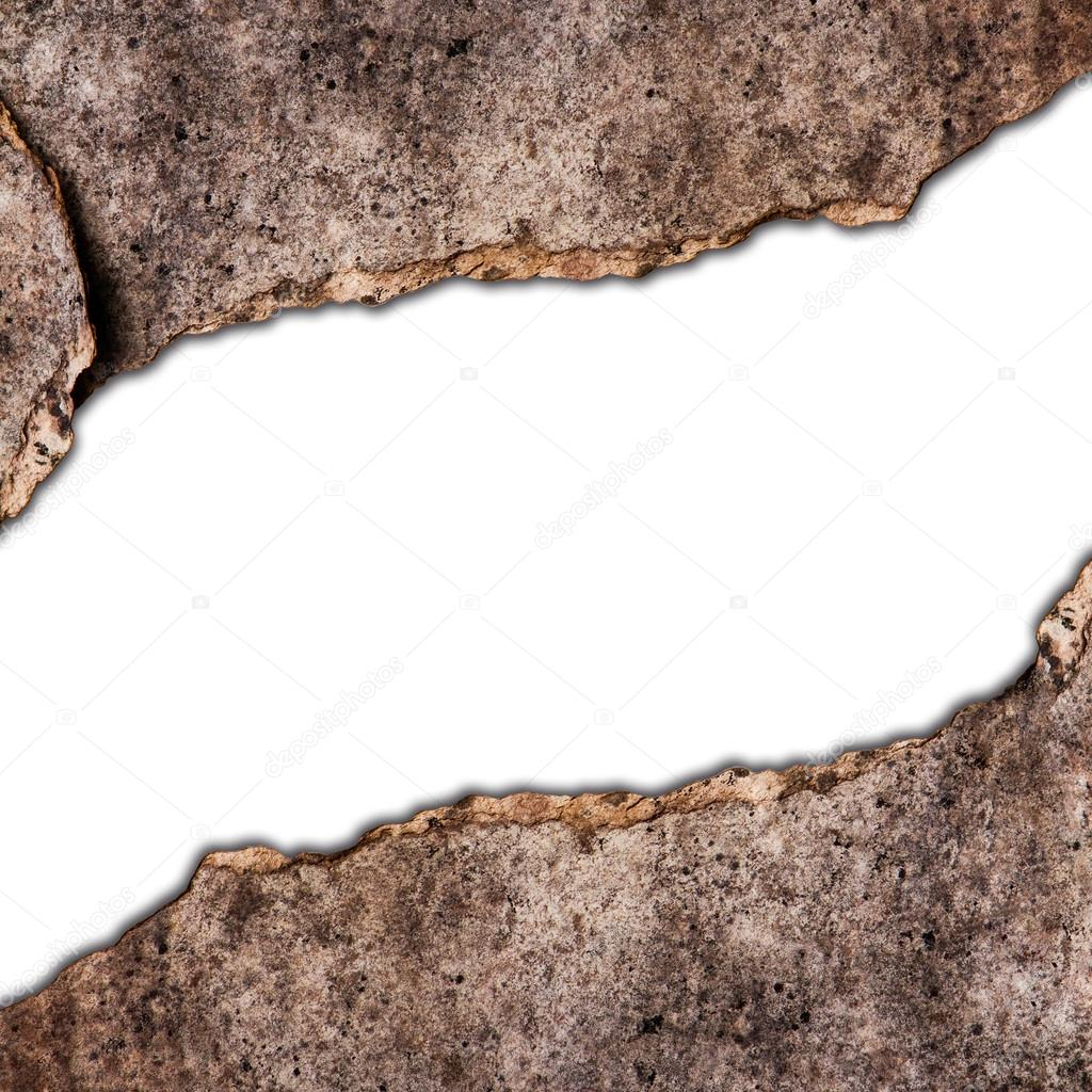 Old wooden frame by broken wood board — Stock Photo © luckypic #19683335