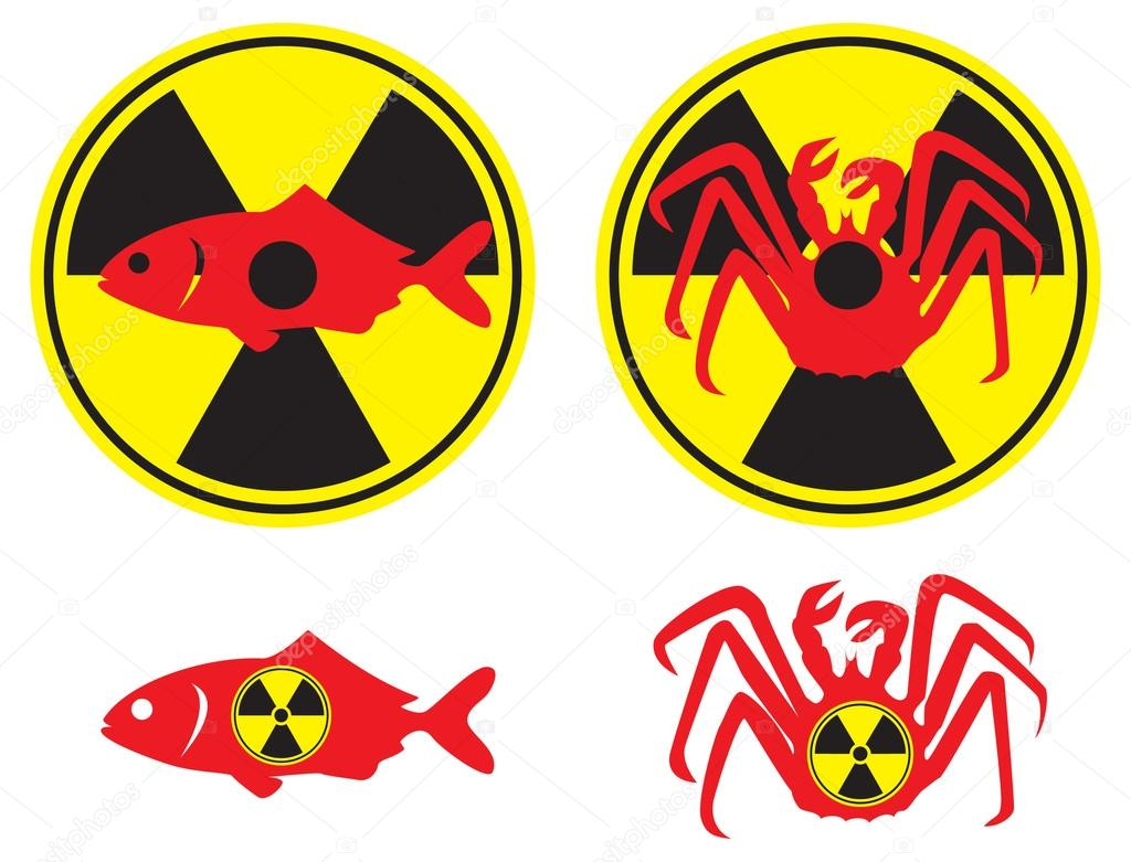 The figure shows the radioactive fish