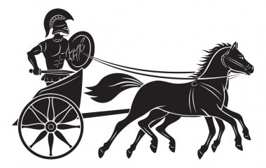 The figure shows a chariot with a gladiator