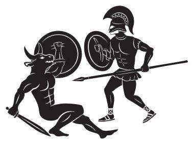 Hercules and Minotaur
