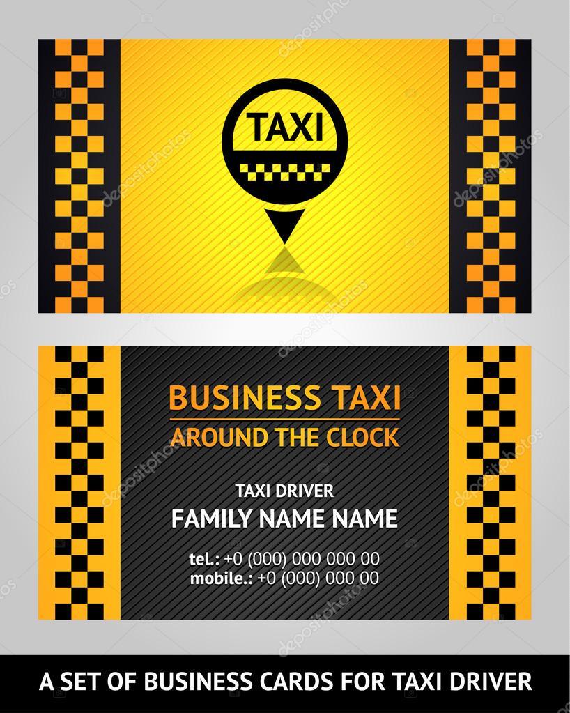 Cartes De Visite Taxi Vector Illustration Modele 10eps Vecteur Par