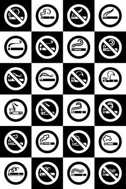 No smoking and Smoking area labels - Big set