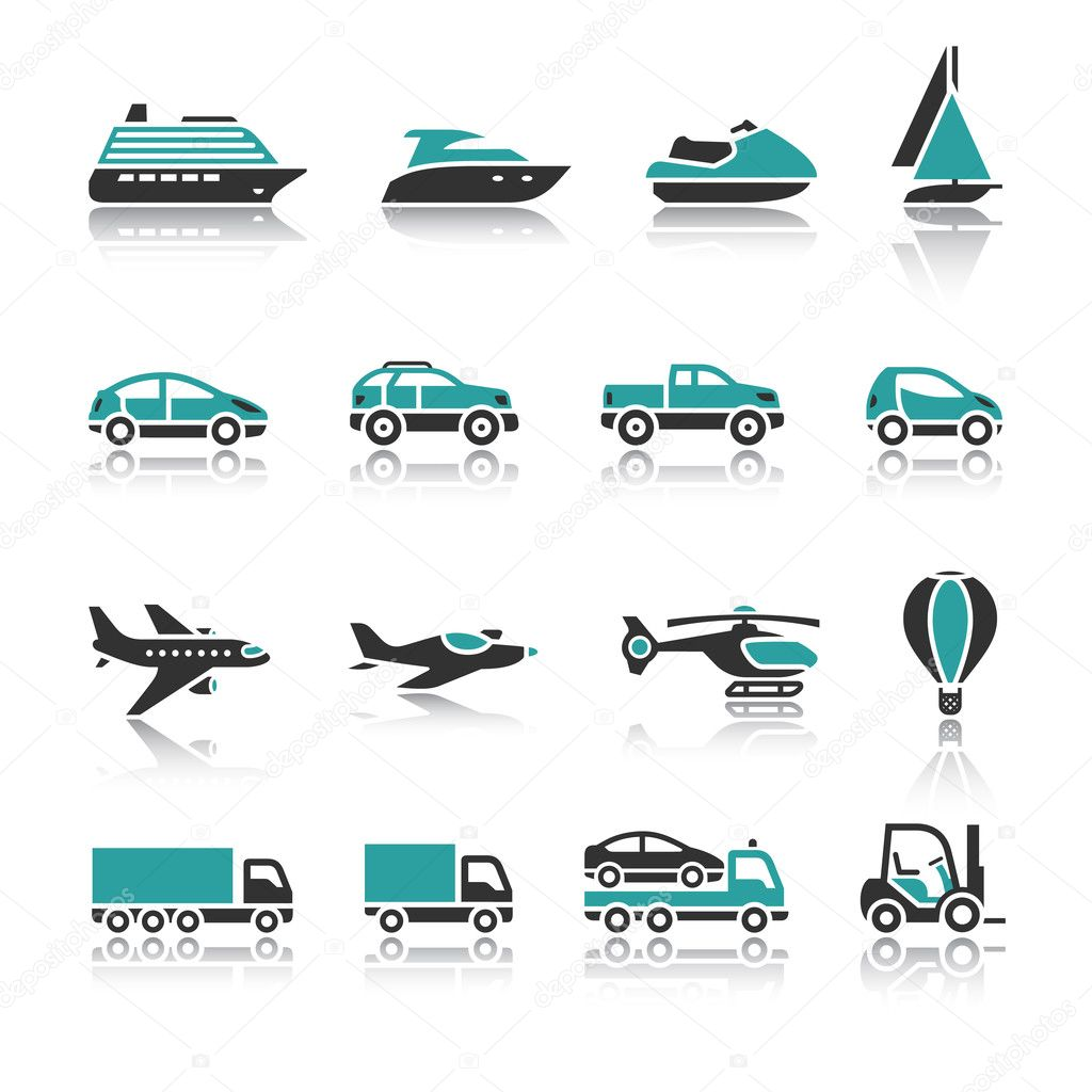 Set of transport icons - One