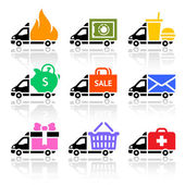 Photo Delivery truck colored icons
