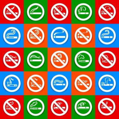 No smoking and smoking area - Big set stickers