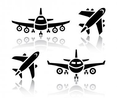 Set of transport icons - Plane, vector illustration stock vector