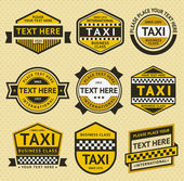 Taxi-Set Abzeichen, Vintage-Stil