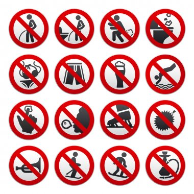 Prohibited signs