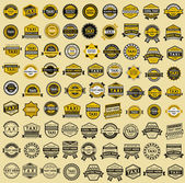Fotografie taxi insignie - vintage stylu. Velká sada