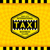 Taxi-Symbol mit kariertem Hintergrund - 22