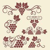 Fotografie grape vine elements