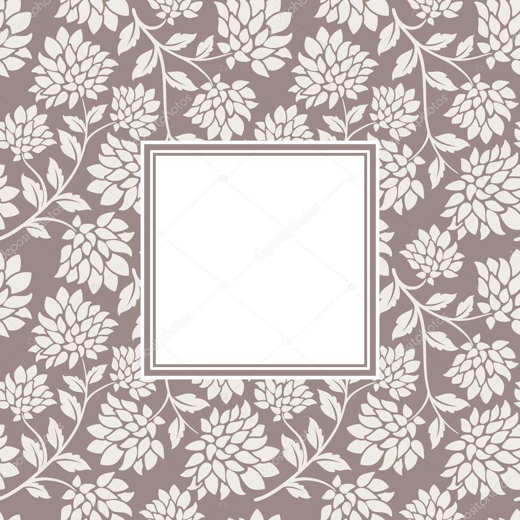 Flower seamless with frame