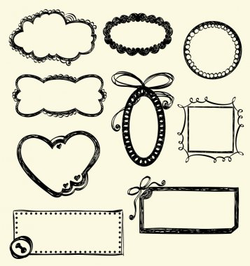 Illustration of Hand-Drawn Doodles and Design Elements. clip art vector