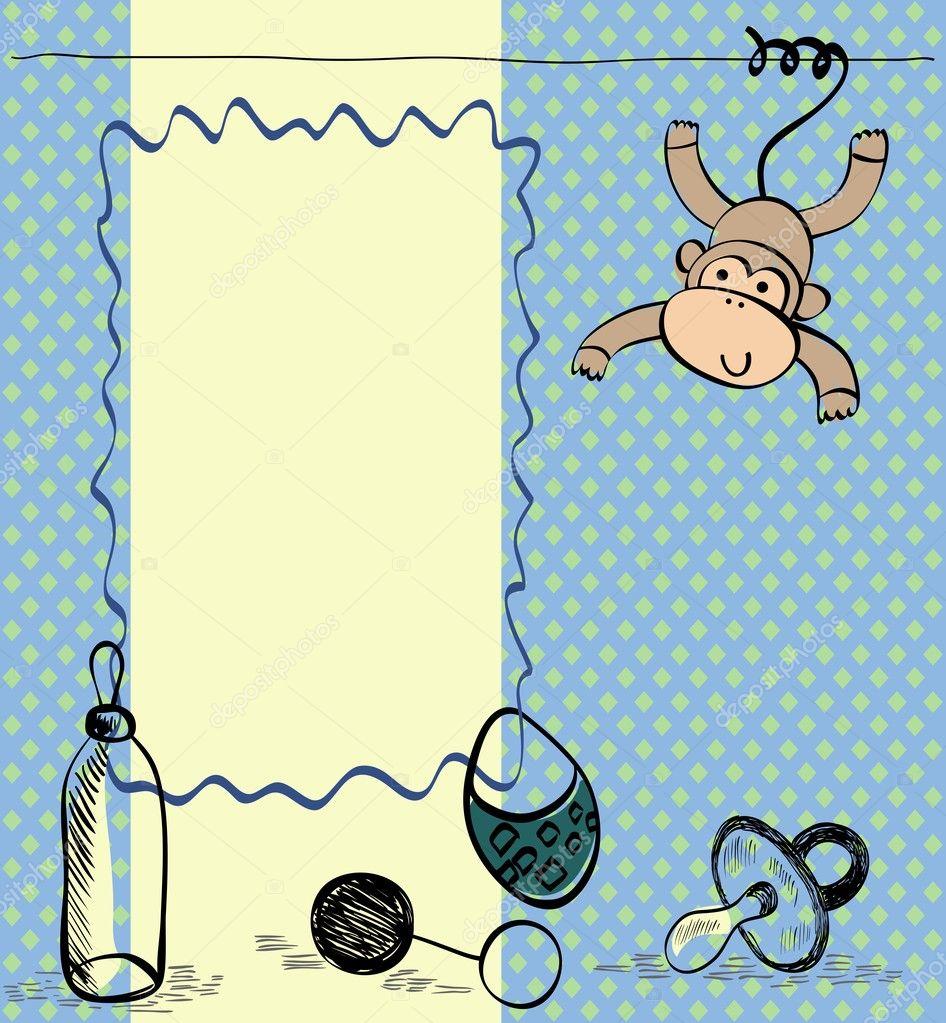marco para recién nacido — Vector de stock © pilipa #31366121