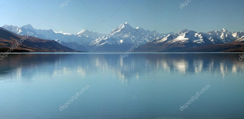 Mount Cook & Lake Pukaki Panorama Background