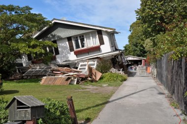 Christchurch Earthquake - Avonside House Collapses