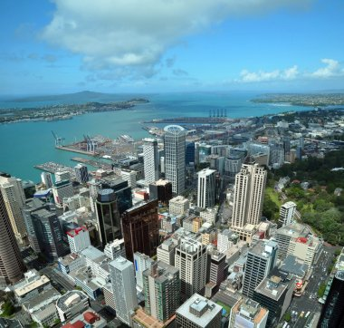 Auckland City & Harbour Aerial East, New Zealand