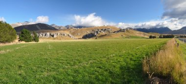 Castle Hill Station Panorama, New Zealand