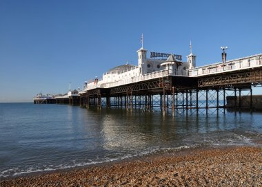 Brighton England - Vertical Panorama of the Famous Brighton Pier