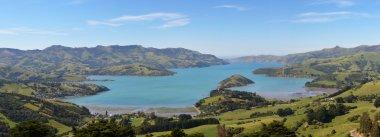 Panorama of Akaroa Harbour, New Zealand