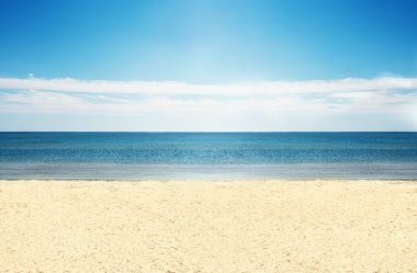 Empty beach.