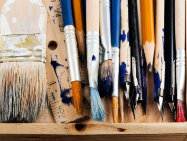 Art tools.