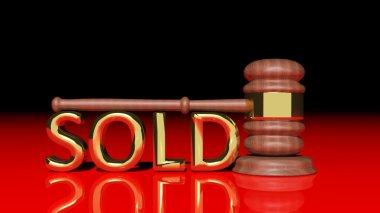 Auction wooden gavel