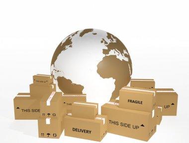 Shipping cardboard
