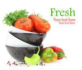čerstvá rajčata a papriky