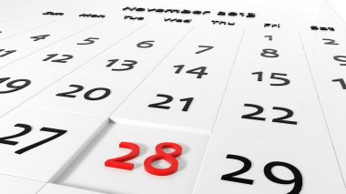 Holiday Calendar. Thanksgiving Day - Chanukah